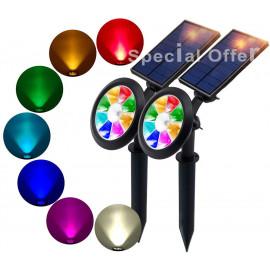 2 x RGB Solar Lights