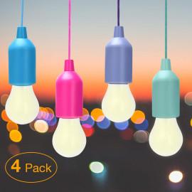 4x Portable Color Led Lamps