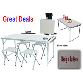 Folding Table with stools